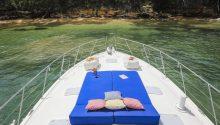 Pisces boat front deck