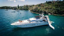 Seven Star yacht water slide