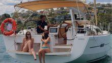 Dufour 412 rear deck