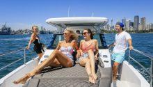 Spectre boat sun bed cruising