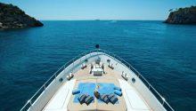Aurora boat front deck
