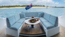 YOT Blue rear deck lounge