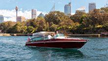 Bel cruising sydney Harbour