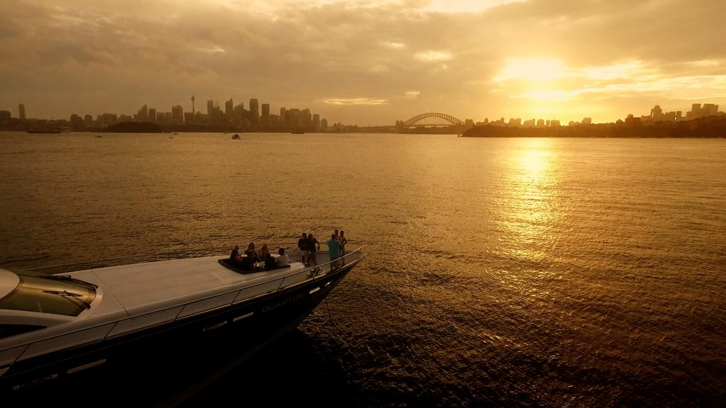 Quantum boat sunset