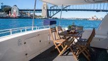 Enigma X boat rear deck