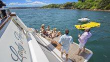 Lady Pamela Boat swim platform