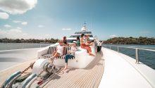 Oscar 2 yacht front deck