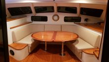 Cloud 9 boat inside saloon