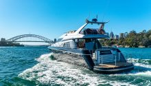 Sunseeker boat cruising