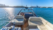 Sunseeker lounges on top deck