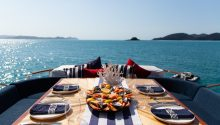 AWOL boat outdoor dining table
