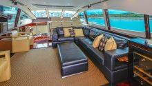 AWOL boat interior lounge