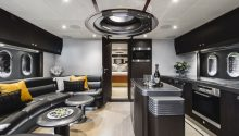 Privacy yacht lower lounge area and galley